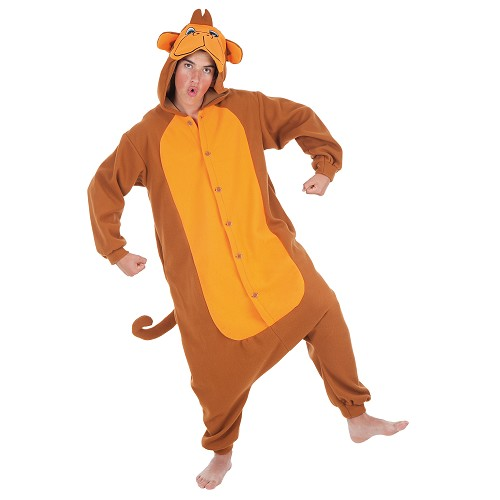 Costume adulte singe drôle T-Xl