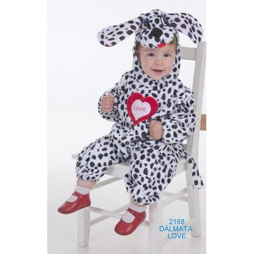 Costume bébé amour dalmate (0 à 12 mois)
