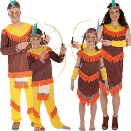 Costumes Colorés Indiens