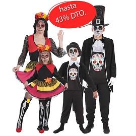 Costumes de Catrina et de Crâne Mexicain