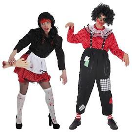 Disfraz Nena y Payaso Zombie
