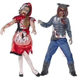 Costumes de Capuche Rouge et de Loup Zombie